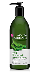 Avalon Organics Unscented Aloe HAND & BODY LOTION