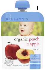 Bellamy's Organic Ready To Serve Baby Food Peach & Apple