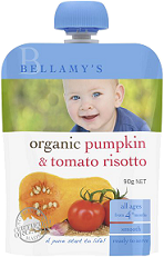 Bellamy's Organic Ready To Serve Baby Food Pumpkin & Tomato Risotto
