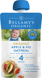 Bellamy's Certified Organic Apple & Fig Oatmeal