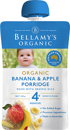 Bellamy's Certified Organic Banana Apple Porridge