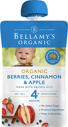 Bellamy's Certified Organic Berries, Cinnamon & Apple