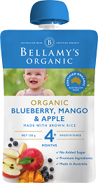 Bellamy's Certified Organic Blueberry, Mango & Apple