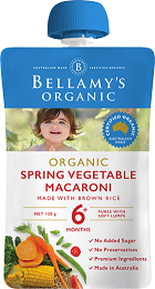 Bellamy's Certified Organic Spring Vegetable Macaroni