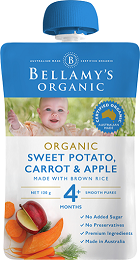 Bellamy's Certified Organic Sweet Potato, Carrot & Apple