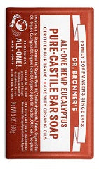 Dr Bronner's All-One Hemp Eucalyptus Pure-Castile Bar Soap