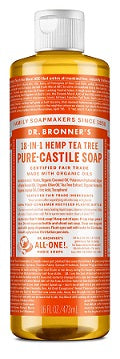 Dr. Bronner's 18-in-1 Hemp Tea Tree Pure-Castile Liquid Soap 473ml