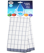 e-cloth Classic Check Tea Towel (Blue)