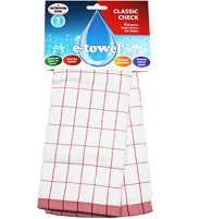 e-cloth Classic Check Tea Towel (Red)