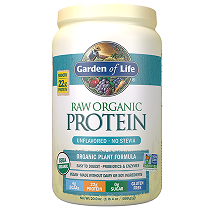 Garden of Life Raw Organic Protein Powder Unflavoured - NO Stevia 620gm