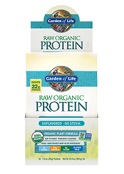 Garden of Life Raw Organic Protein Powder Unflavoured - NO Stevia 28gm Sachet