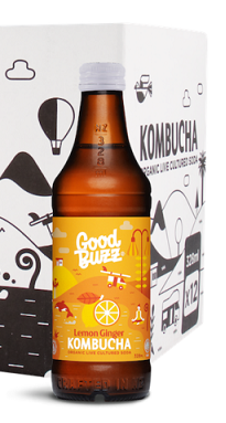 Good Buzz Kombucha Lemon Ginger 328ml
