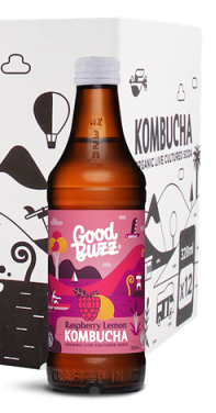 Good Buzz Kombucha Raspberry Lemon 328ml