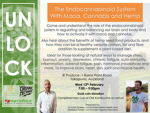 The Endocannabinoid System with Maca, Cannabis and Hemp