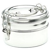 Stainless Steel Round Lunchbox 16x9.5cm