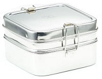 Stainless Steel Rectangular Lunchbox 13x13x7.5cm