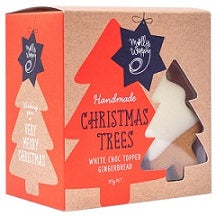 Molly Woppy Christmas Trees White Choc Topped Gingerbread Festive Box