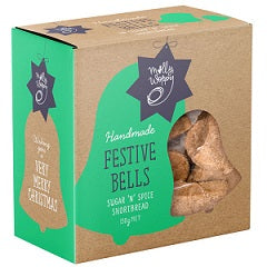 Molly Woppy Festive Bells Sugar 'N' Spice Shortbread Festive Box