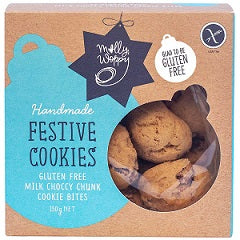 Molly Woppy Festive Cookies Milk Choccy Chunk Cookie Bites