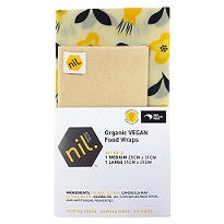 nil VEGAN organic food wraps (Honey range) Flowers