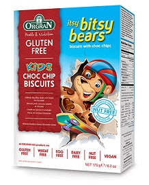 Orgran Kids Itsy Bitsy Bears Choc Chip Cookies