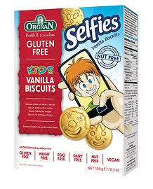 Orgran Kids Selfies Vanilla Biscuits