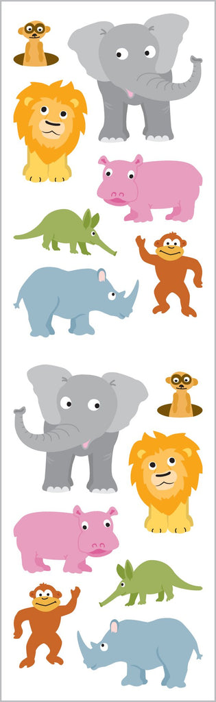 Chubby Jungle Animals Stickers
