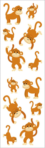 Playful Monkeys Stickers