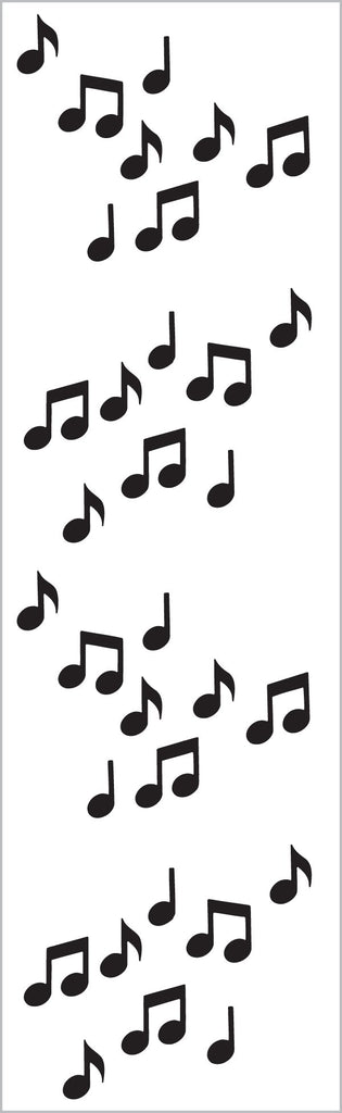 Black Micro Music Notes Stickers