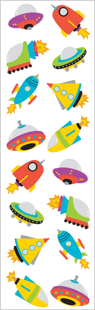 Chubby Rocket Ships Stickers