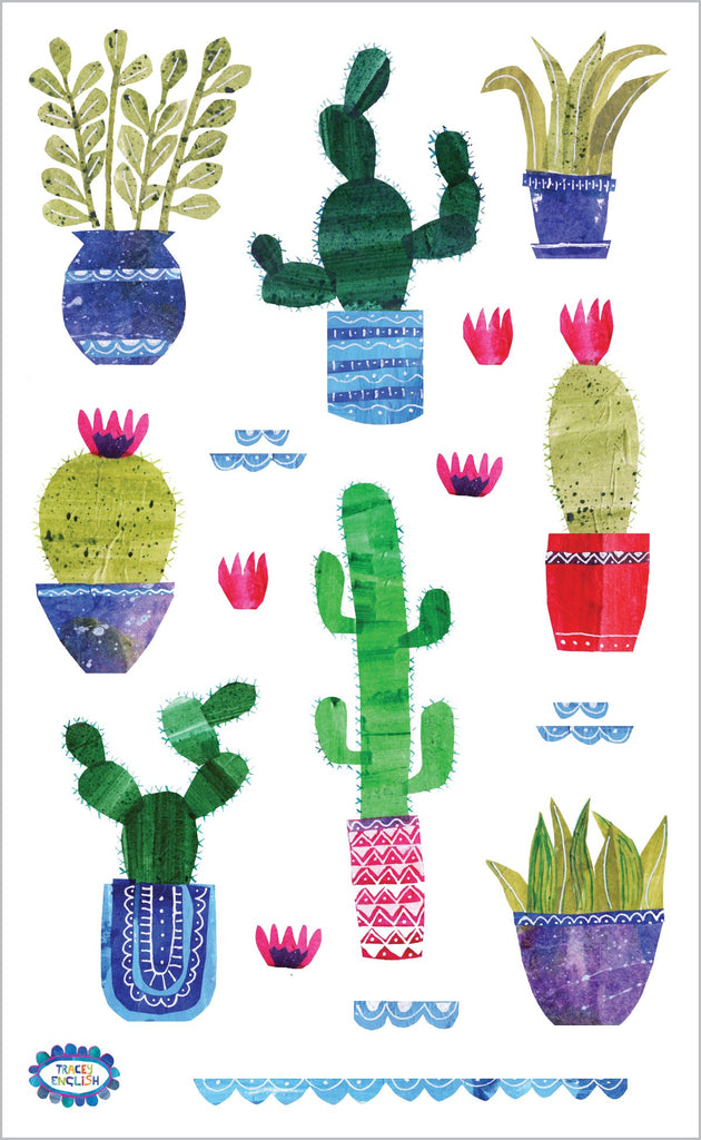 Collaged Cacti Stickers