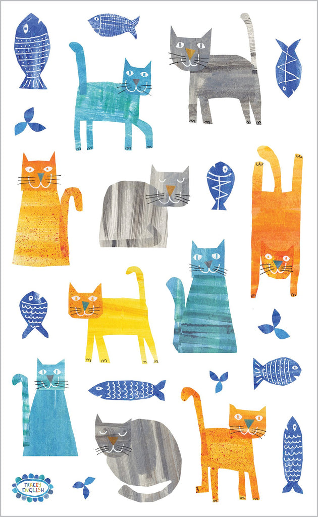Collaged Cats Stickers