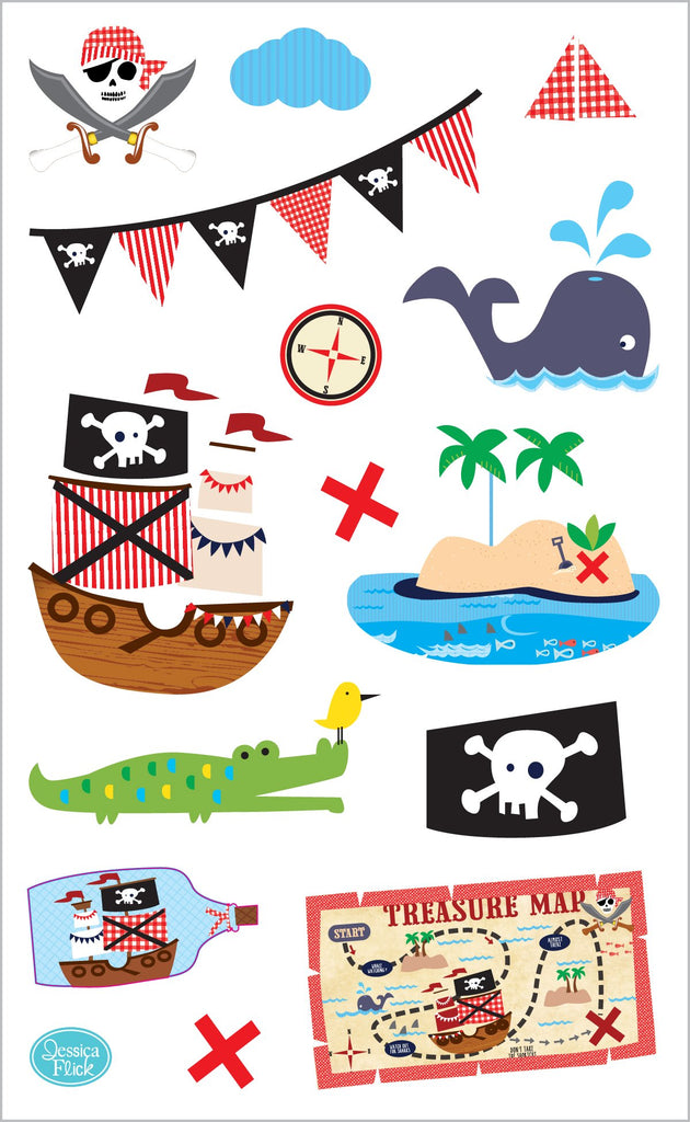 Ahoy Pirates Stickers