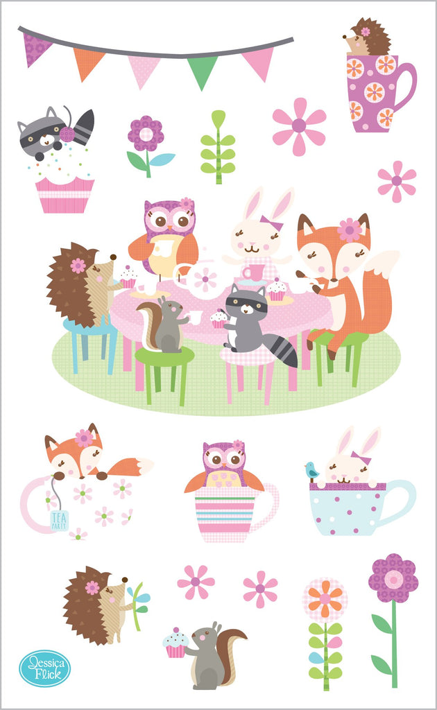 Woodland Tea Party Stickers