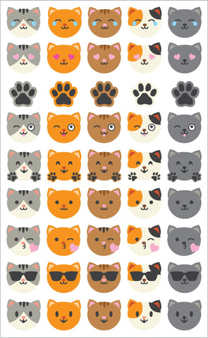 Cat Emotions Stickers
