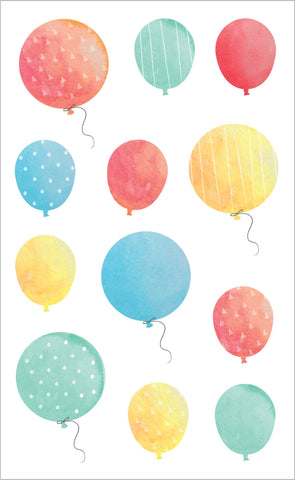 Watercolor Balloons Stickers