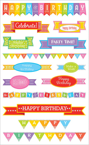 Birthday Banners Stickers