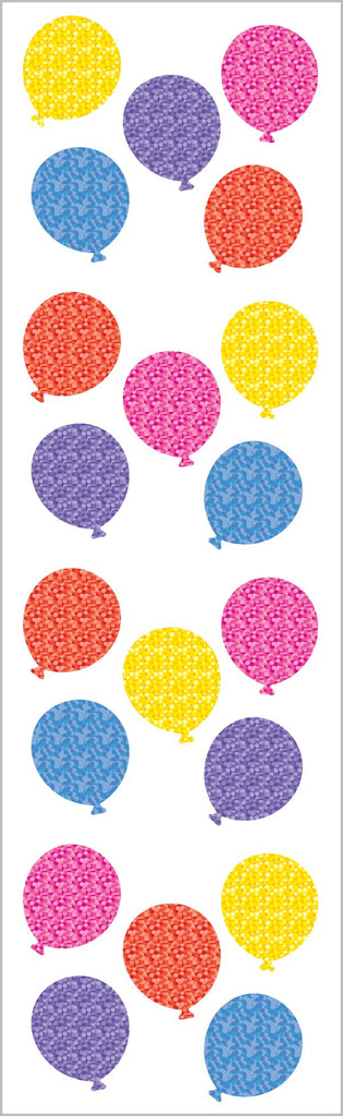 Sparkle Small Balloon Stickers