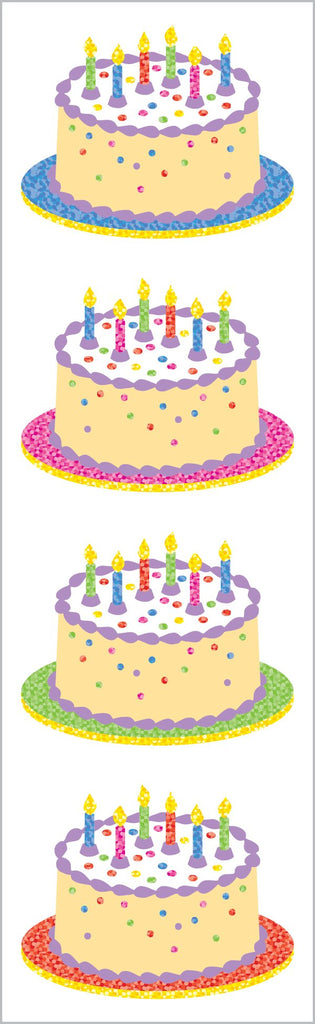 Sparkle Birthday Cake Stickers