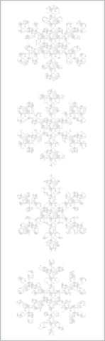 Sparkle Snowflake Stickers