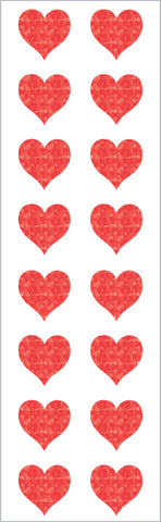 Sparkle Small Red Heart Stickers