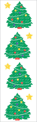 Sparkle Xmas Tree Stickers