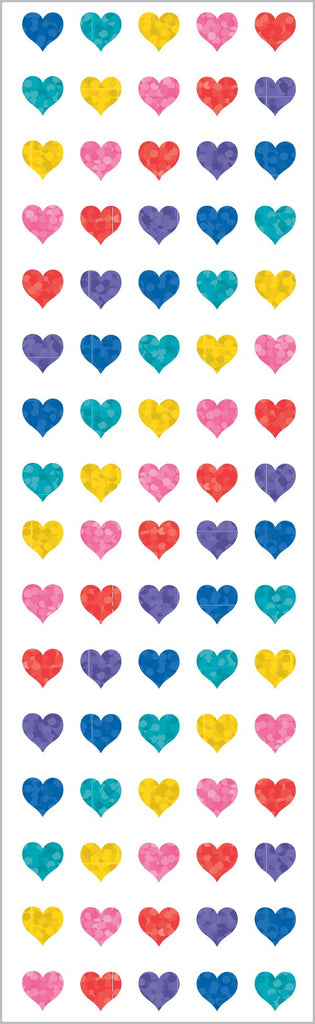 Sparkle Multi Micro Heart Stickers