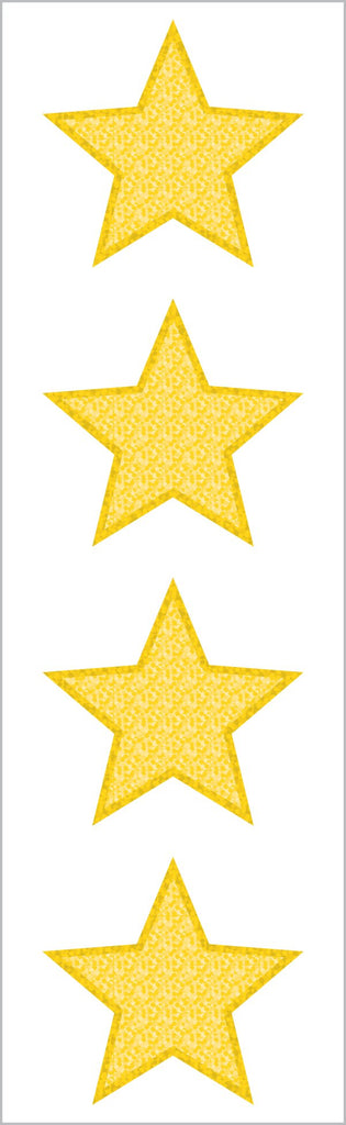 Sparkle Large Gold Star Stickers