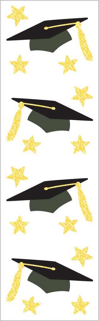 Grad Caps Stickers