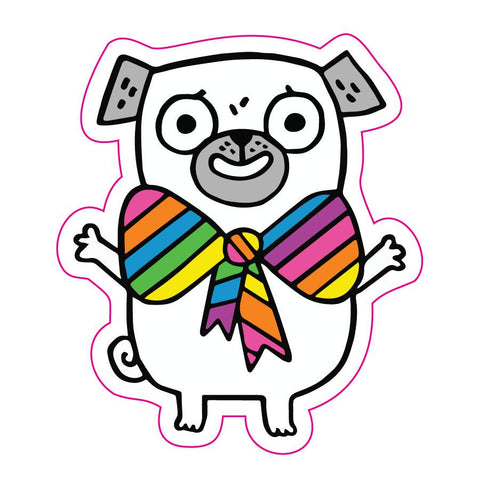 Pride Pug Big Sticker