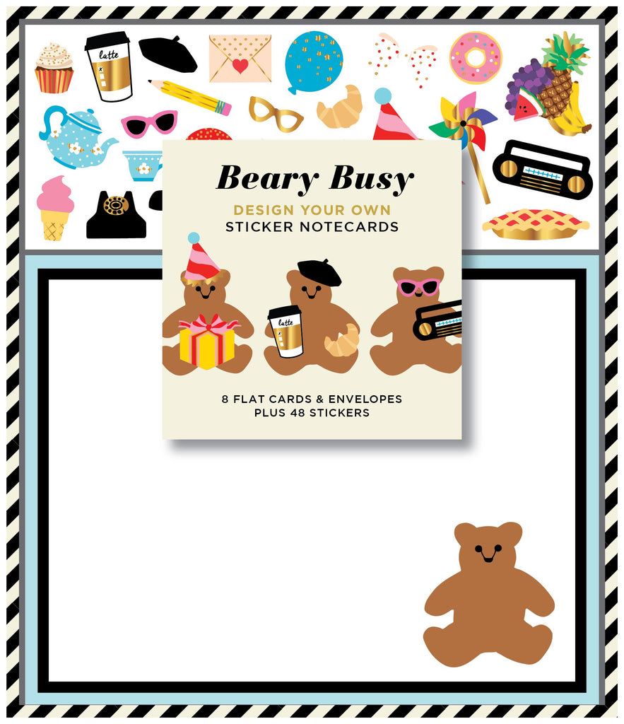 Beary Busy Sticker Notecards