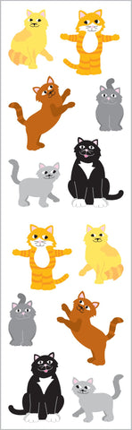 Playful Cats Stickers