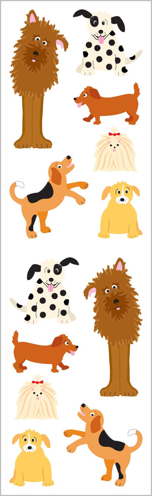 Roll Playful Dogs Stickers
