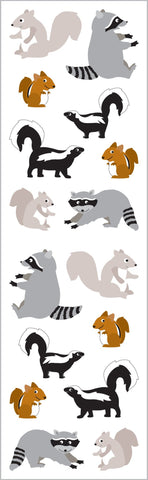 Playful Woodland Pals Stickers